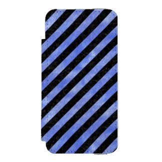 STRIPES3 BLACK MARBLE & BLUE WATERCOLOR INCIPIO WATSON™ iPhone 5 WALLET CASE
