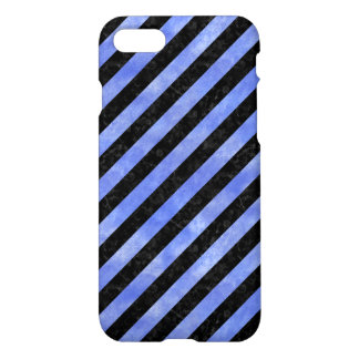 STRIPES3 BLACK MARBLE & BLUE WATERCOLOR iPhone 8/7 CASE