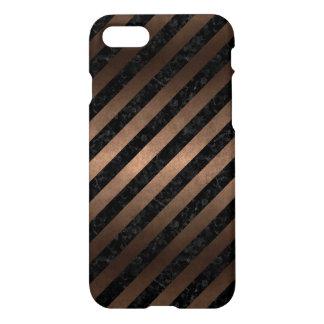 STRIPES3 BLACK MARBLE & BRONZE METAL iPhone 8/7 CASE