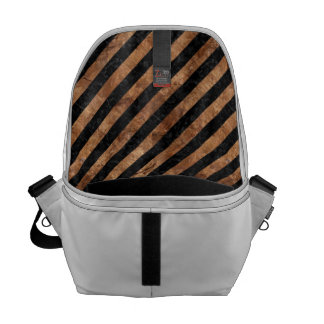 STRIPES3 BLACK MARBLE & BROWN STONE COURIER BAGS