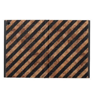STRIPES3 BLACK MARBLE & BROWN STONE COVER FOR iPad AIR