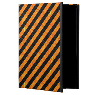 STRIPES3 BLACK MARBLE & ORANGE MARBLE