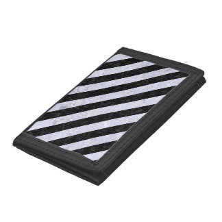 STRIPES3 BLACK MARBLE & WHITE MARBLE (R) TRIFOLD WALLETS