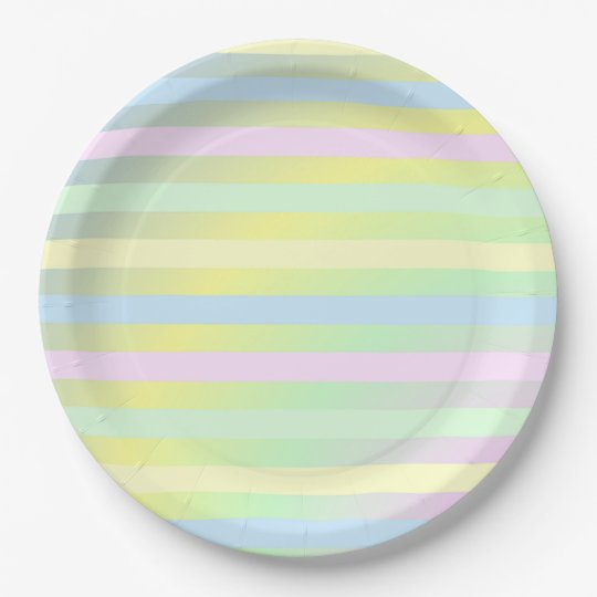 Stripes 9 Inch Paper Plate