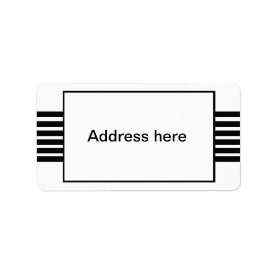 stripes address labels