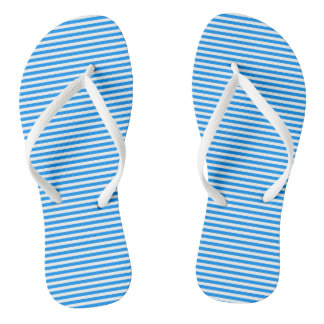 Stripes Adult, Slim Straps Flip Flops
