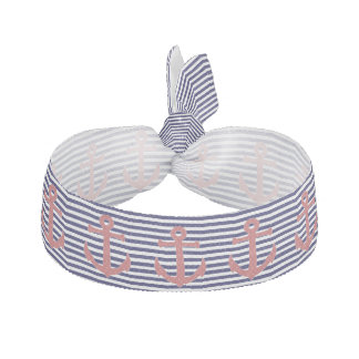 Stripes and Anchors Head Band Hair Tie