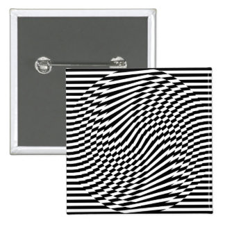 Stripes and Circle Op-Art Button