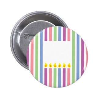 Stripes and Colourful candles in a box 2 Inch Round Button