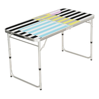 stripes and colours beer pong table