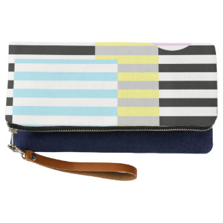 stripes and colours clutch