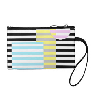 stripes and colours coin purse