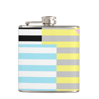 stripes and colours hip flask