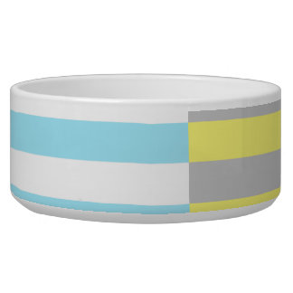 stripes and colours pet food bowl