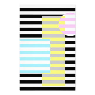 stripes and colours stationery design