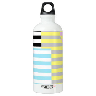 stripes and colours water bottle