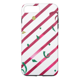 Stripes and Confetti iPhone 7 Plus Case
