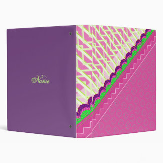 Stripes and curves pattern 3 ring binder