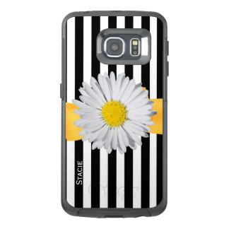 Stripes and Daisy Otterbox Samsung S6 Edge Case