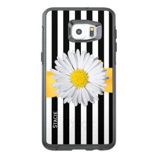 Stripes and Daisy Otterbox Samsung S6 Edge Plus