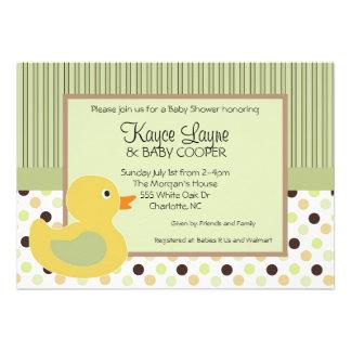 Stripes and Dots Duck Invitation