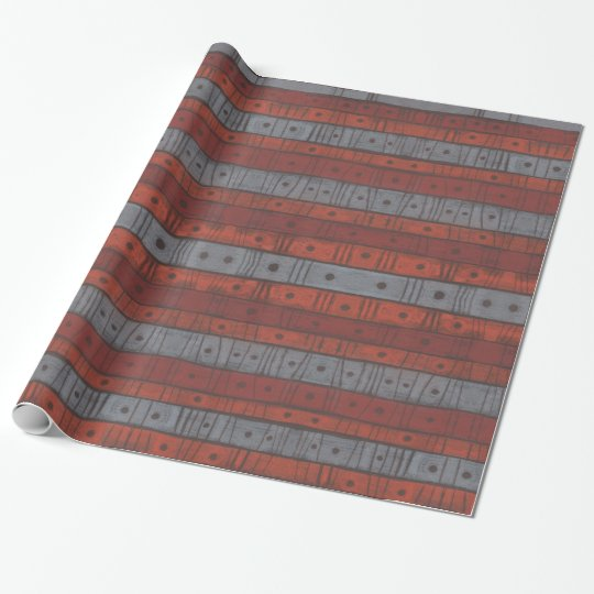 """""""Stripes and dots"""" pattern in earth tones Wrapping Paper"""