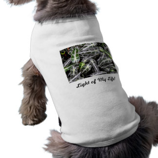 Stripes and Droplets Glossy Ornamental Plant Dog T-shirt