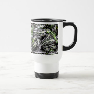 Stripes and Droplets Glossy Ornamental Plant Travel Mug