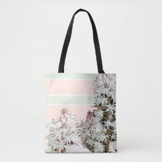 Stripes and Floral Tote Bag