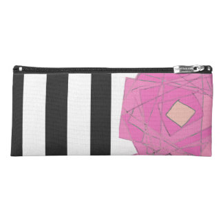 stripes and florals pencil case