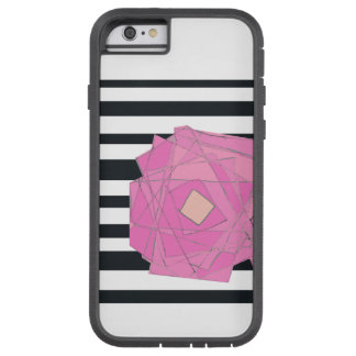 Stripes and florals phone case