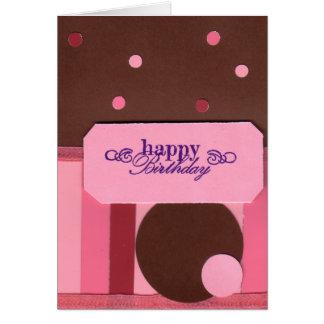 Stripes and Polka Dots Birthday Card