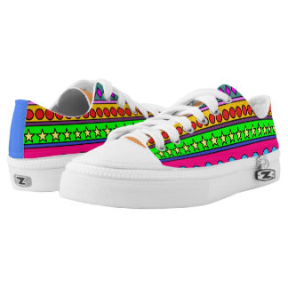 Stripes and shapes Zipz Low-Top Sneakers