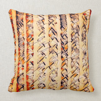 STRIPES AND SQUIGGLES THROW PILLOW