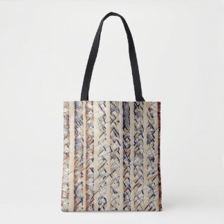 STRIPES AND SQUIGGLES TOTE BAG