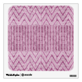 Stripes and Zig-Zags in Velvety Dusty Mauve Wall Sticker