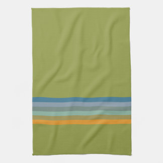 Stripes Apple Yellow Blue Violet Olive Green Aqua Kitchen Towel