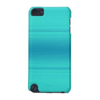 Stripes - Aqua Turquoise Cyan Blue iPod Touch 5G Case