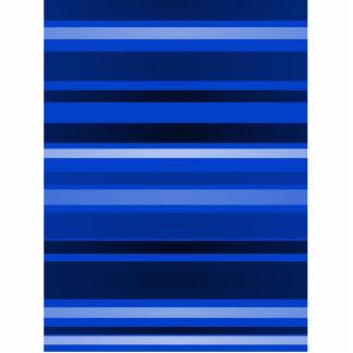 Stripes Art Dark Blue Photo Cut Out