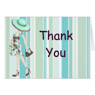 Stripes Baby Shower Thank You Notecard (CA)