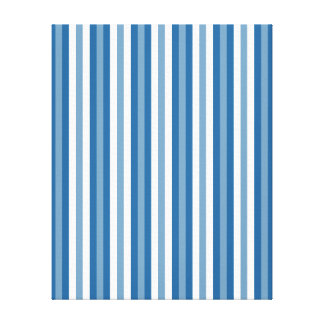 Stripes Background Blue and White Canvas Print