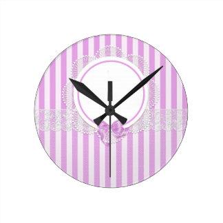 stripes beautiful pattern fashion style rich looks round clock