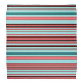 Stripes - Begonia and Teal Bandana