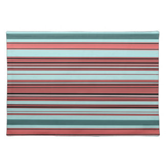 Stripes - Begonia and Teal Placemat