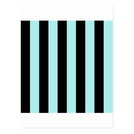 Stripes - Black and Pale Blue Postcards