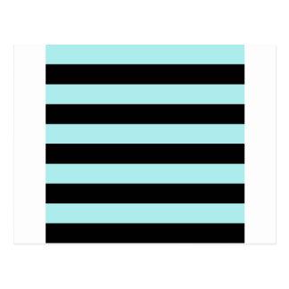 Stripes - Black and Pale Blue Postcard