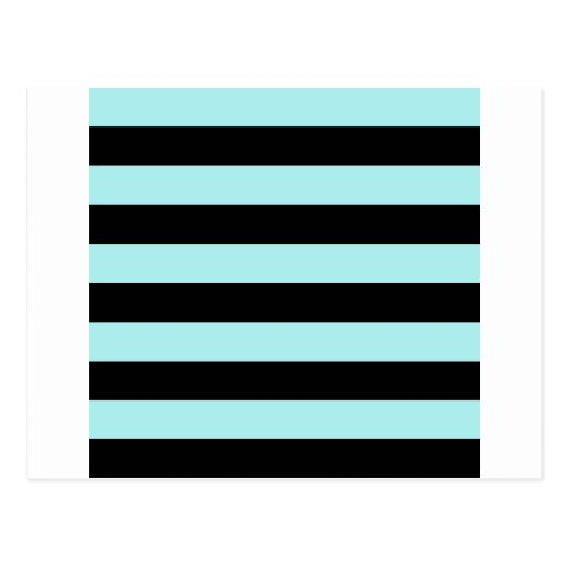 Stripes - Black and Pale Blue Post Card