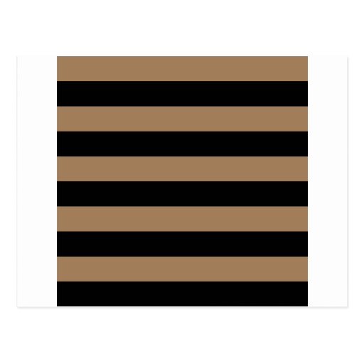 Stripes - Black and Pale Brown Post Cards