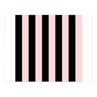 Stripes - Black and Pale Pink Postcard