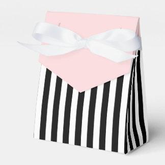 Stripes Black And White Ribbon Pink Wedding Gift Wedding Favor Boxes